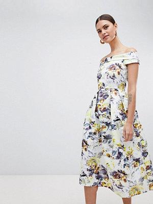 Closet London Bardot Floral Midi Dress