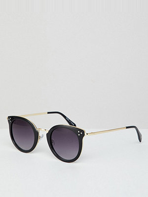 Solglasögon - Accessorize Lizzy round metal trim sunglasses