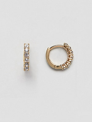 ASOS örhängen DESIGN hoop earrings with crystal detail