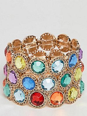 ASOS Curve armband ASOS DESIGN Curve Exclusive pack of 3 bracelets with multicolour jewels