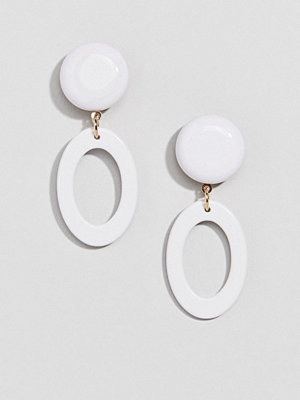 ASOS örhängen DESIGN earrings with open resin shape - Multi