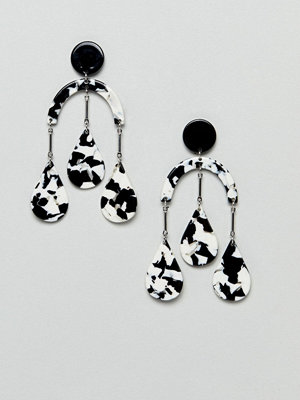 ASOS örhängen DESIGN earrings in abstract drop design with resin shapes in gold