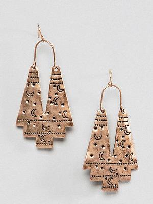 Reclaimed Vintage örhängen inspired etched moon earrings