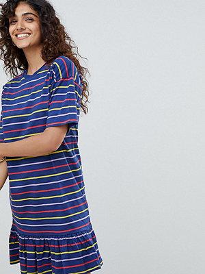 Asos Tall ASOS DESIGN Tall drop hem mini dress in cut about stripe