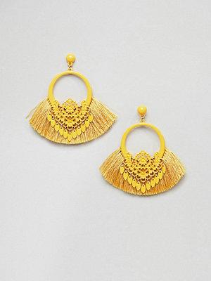 Missguided örhängen Tassel Hoop Earrings