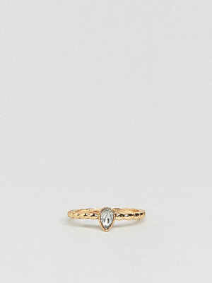 ASOS Design pinky ring with stone detail