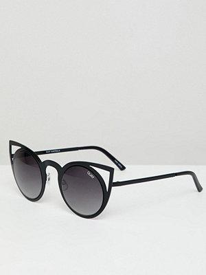 Solglasögon - Quay Australia invader cat eye sunglasses - Black/smoke