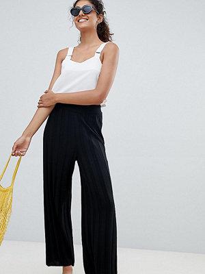 Asos Tall Stickade culotte-byxor med bred ribbning