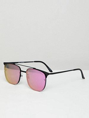 Solglasögon - Quay Australia private eyes aviator sunglasses - Blk/purple