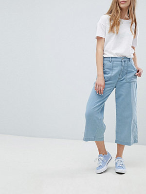 Pull&Bear Blå jeans med vida ben