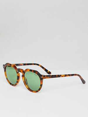 Polo Ralph Lauren Round Sunglasses in Tort