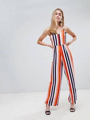 Miss Selfridge jumpsuit in rainbow stripe