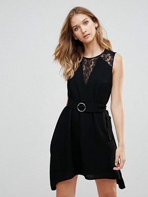 French Connection Hennesy Lace Insert A-Line Dress
