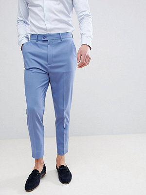 ASOS DESIGN Tapered Smart Trousers In Airforce Blue