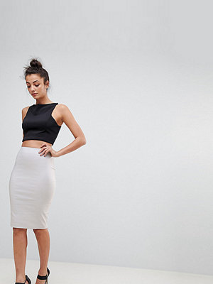 Asos Tall ASOS DESIGN Tall high waisted pencil skirt - Grey
