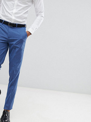 ASOS DESIGN Tall skinny smart trousers in pale blue - Pale blue