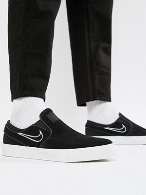 Nike Sb Zoom Stefan Janoski Slip On Trainers In Black 833564-004