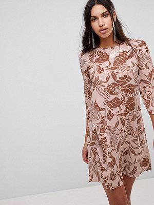 Y.a.s Floral Print Shift Dress - Mahogony rose
