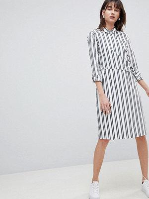 Selected Femme Stripe Wrap Shirt Dress