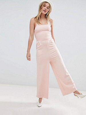 Monki Cross Back Cullotte Jumpsuit