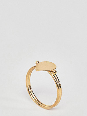 ASOS DESIGN Gold Plated Sterling Silver Sleek Teardrop Ring