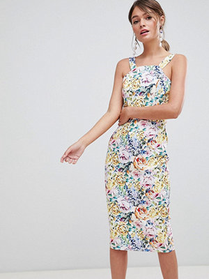 Paper Dolls Floral Printed Pinafore Pencil Dress - Multi floral