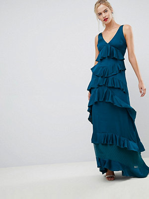 Y.a.s Ruffle Tiered Maxi Dress - Navy
