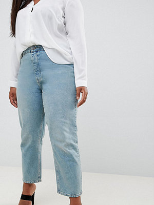 ASOS Curve ASOS DESIGN Curve Florence authentic straight leg jeans in light green cast - Green cast