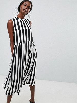 Y.a.s High Neck Stripe Midi Dress
