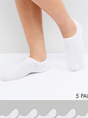 Monki 5-pack med vita träningsstrumpor 10-100 vit