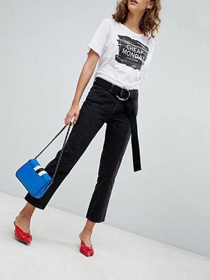 Cheap Monday Revive Cropped Straight Leg Jean - Syntax black