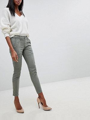J Brand Skinny jeans med arbetsfickor Castor grey khaki