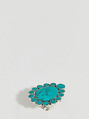Sacred Hawk semi-precious stone statement ring