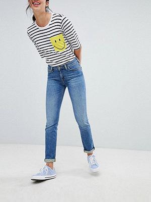 Lee Smile Collab Jeans med raka ben Medeltvätt apxg