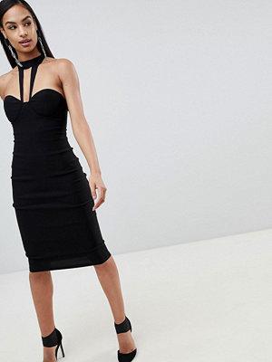 Ra-Re London high neck detail midi dress