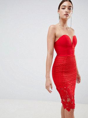 Ra-Re London sweetheart pencil crochet dress