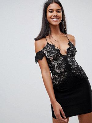 Ra-Re London lace off the shoulder mini dress