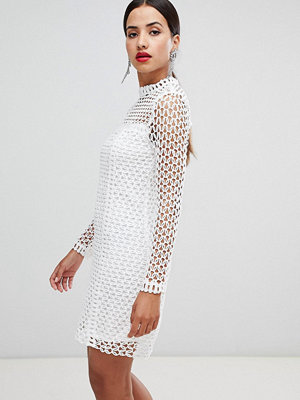 Ra-Re London long sleeve crochet dress