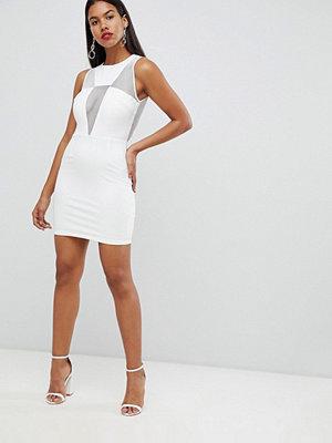 Ra-Re London deep V mesh mini dress