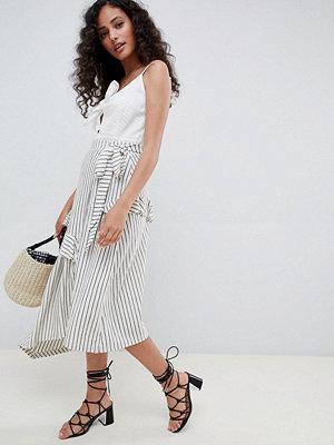 ASOS DESIGN stripe maxi skirt with asymmetric wrap - Stripe