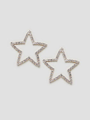 ASOS örhängen DESIGN statement earrings in crystal star design