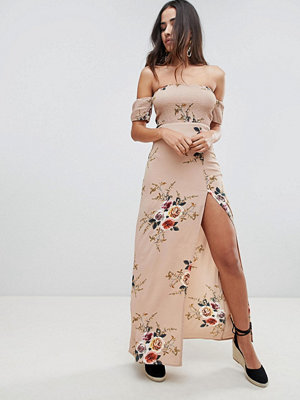 Girl In Mind floral bardot maxi dress