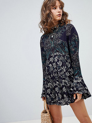 Free People the lady luck printed tunic dress - Blue