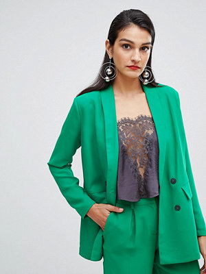 Selected Femme double breasted long blazer - Jolly green