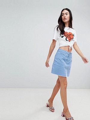 Miss Selfridge Blå a-linjeformad kjol med rep