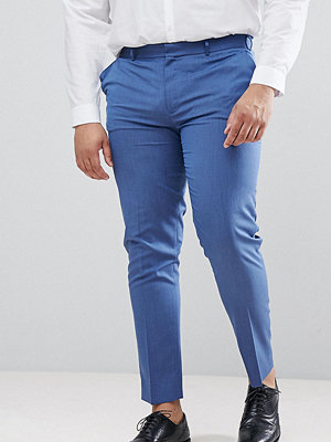 ASOS DESIGN Plus skinny smart trousers in pale blue - Pale blue