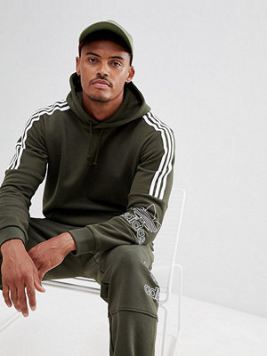 Adidas Originals Outline Pullover Hoodie In Green DH5780