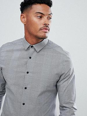 ASOS DESIGN smart slim work shirt with prince of wales check
