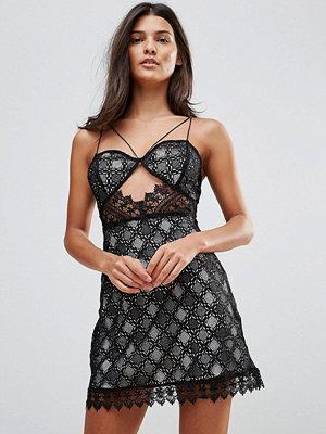Millie Mackintosh Notting Hill Lace Cut Out Slip Dress - Blk