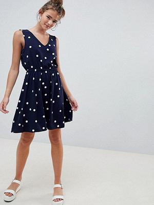 Only Michelle Polka Dot Skater Dress - Night sky